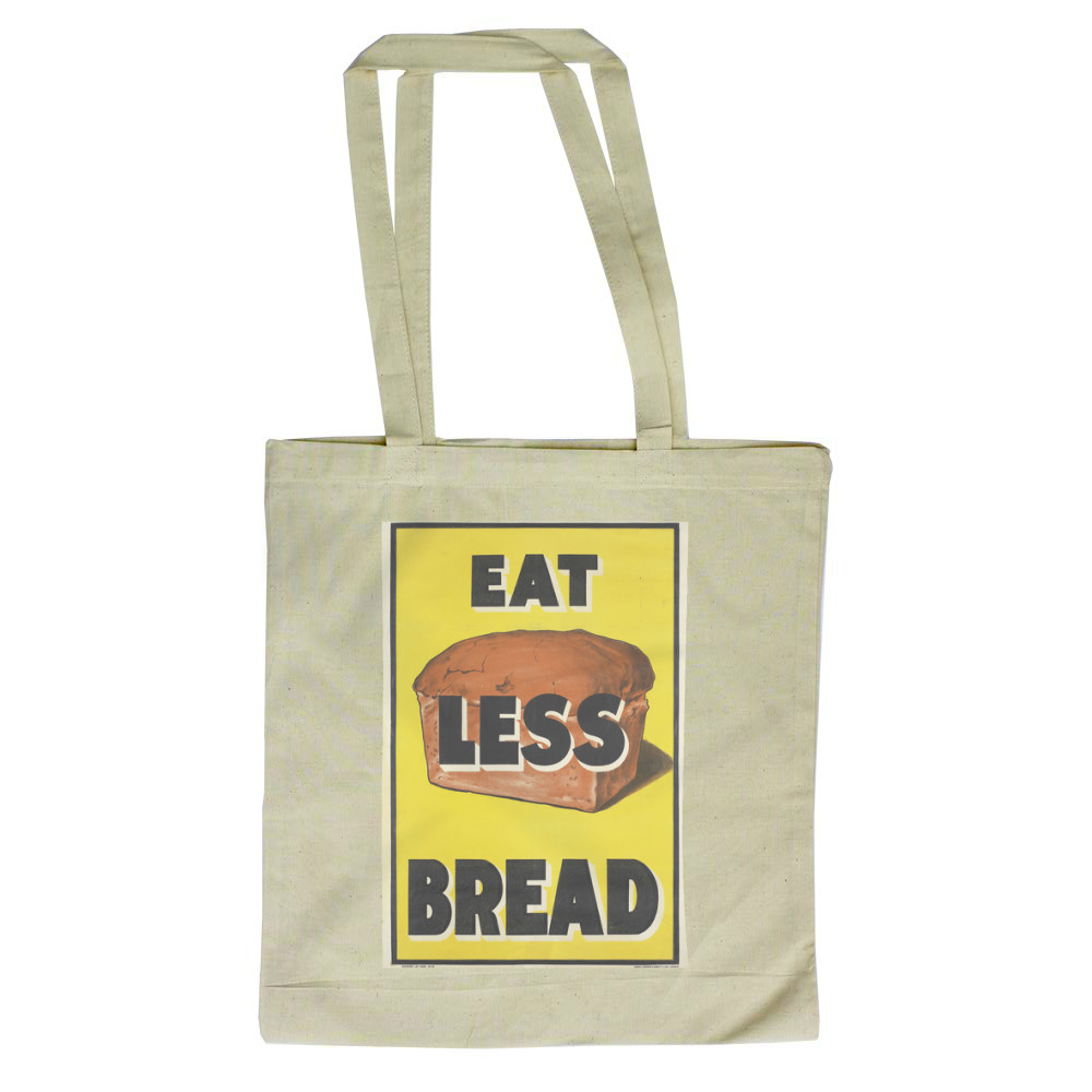 Eat Less Bread Tote Bag