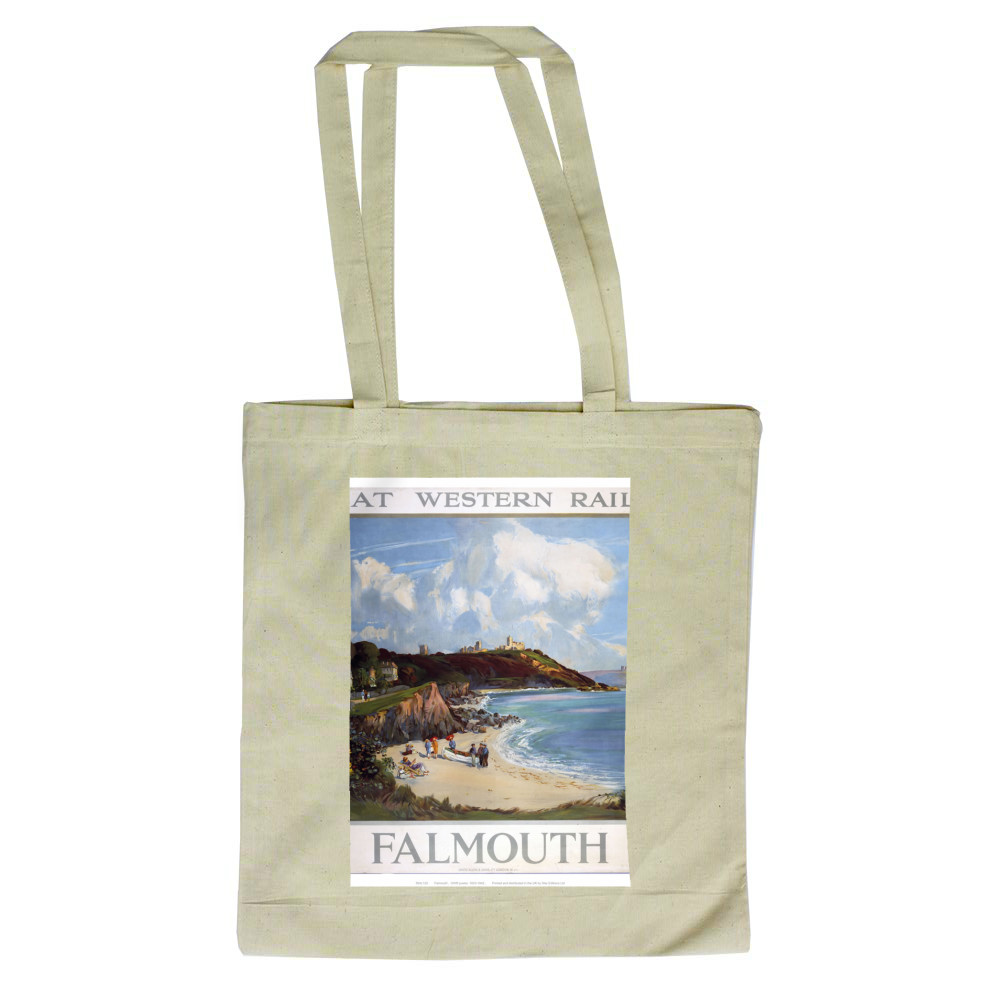 Railway Poster - Falmouth Tote Bag