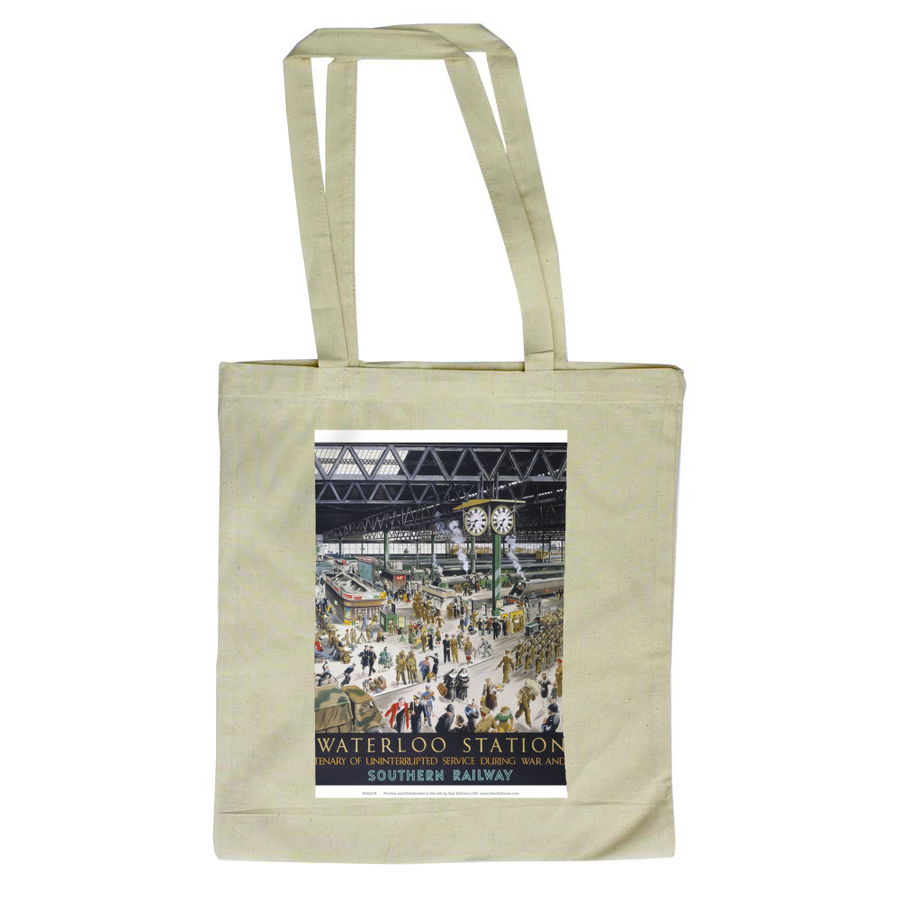 1848 to 1948 waterloo station - Centenary of uninterrupted service Tote Bag