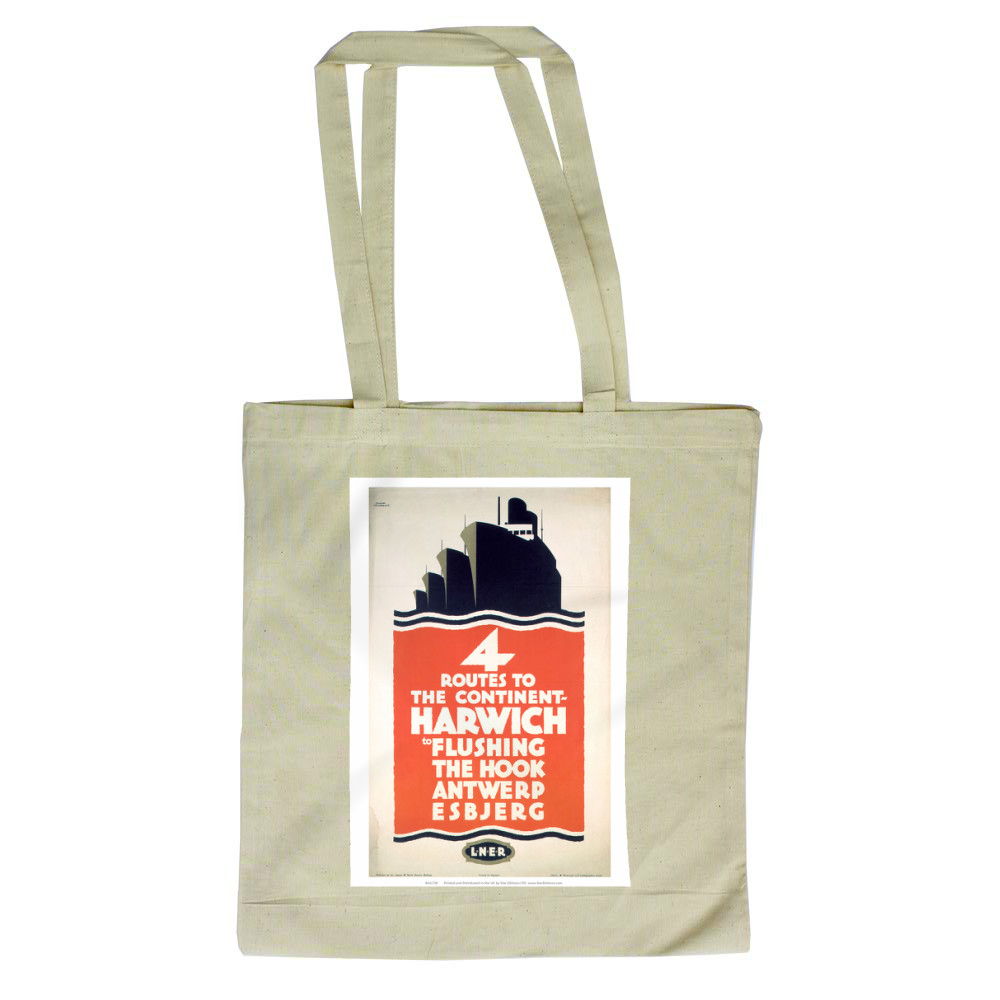 4 Route to the Continent - Harwich LNER Tote Bag