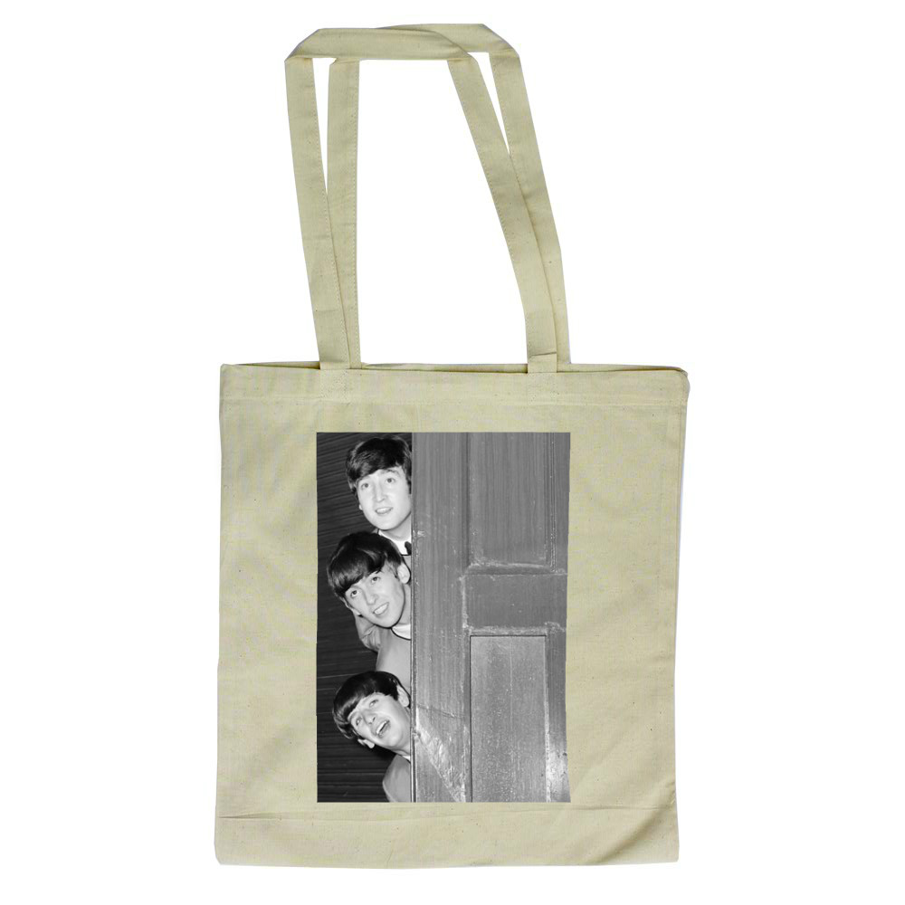 1963 The Beatles pose backstage at.. Tote Bag
