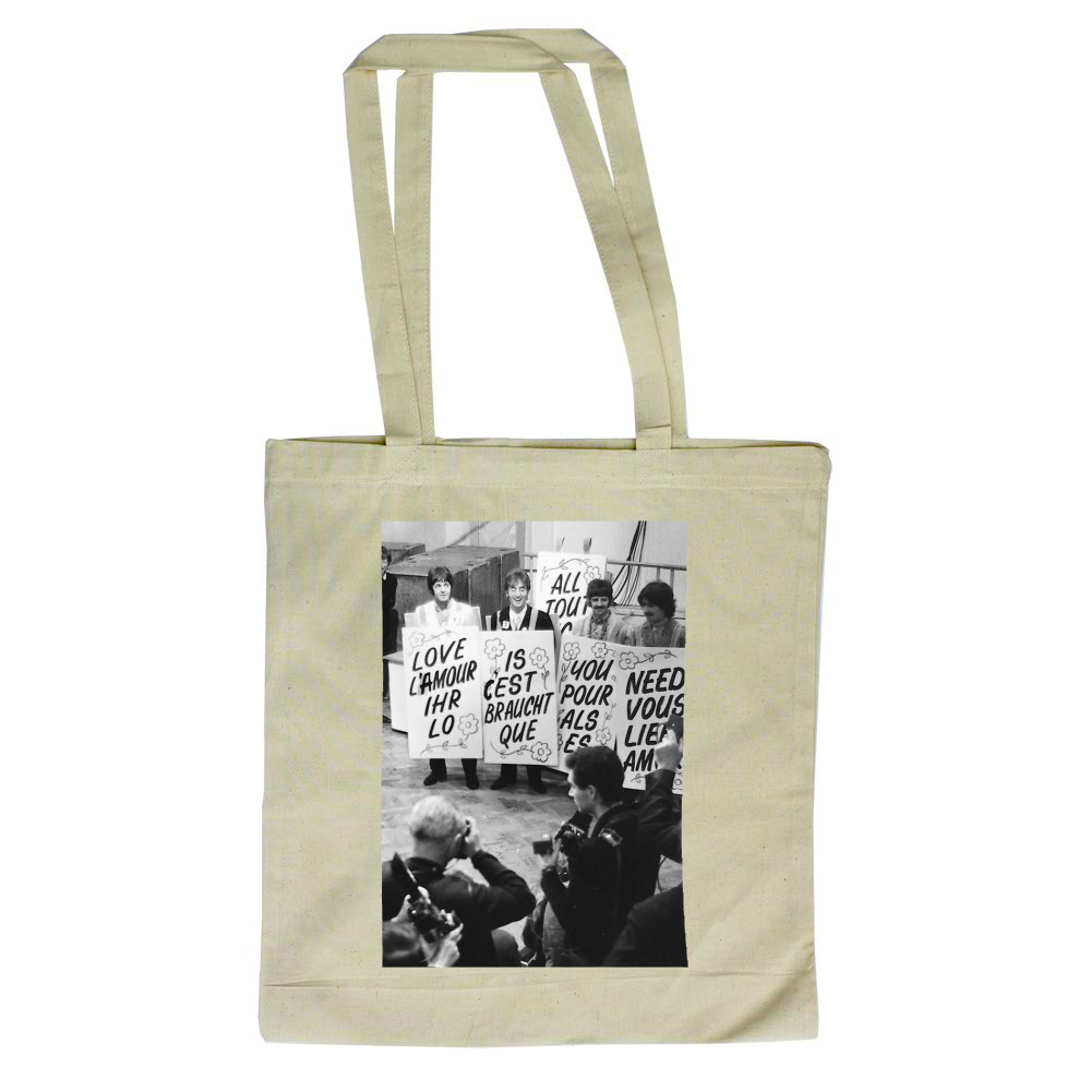 1967 The Beatles promote Our World.. Tote Bag