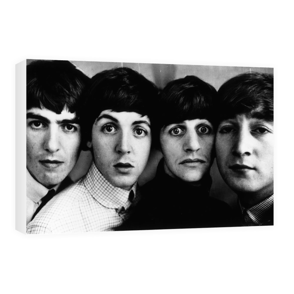 Beatles pop group in 1963. Heads next.. Canvas