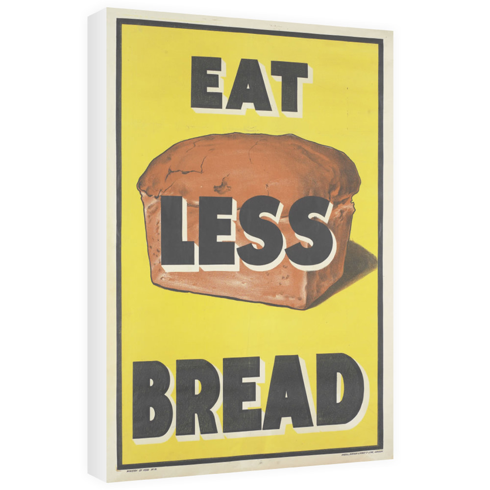 Eat Less Bread Canvas