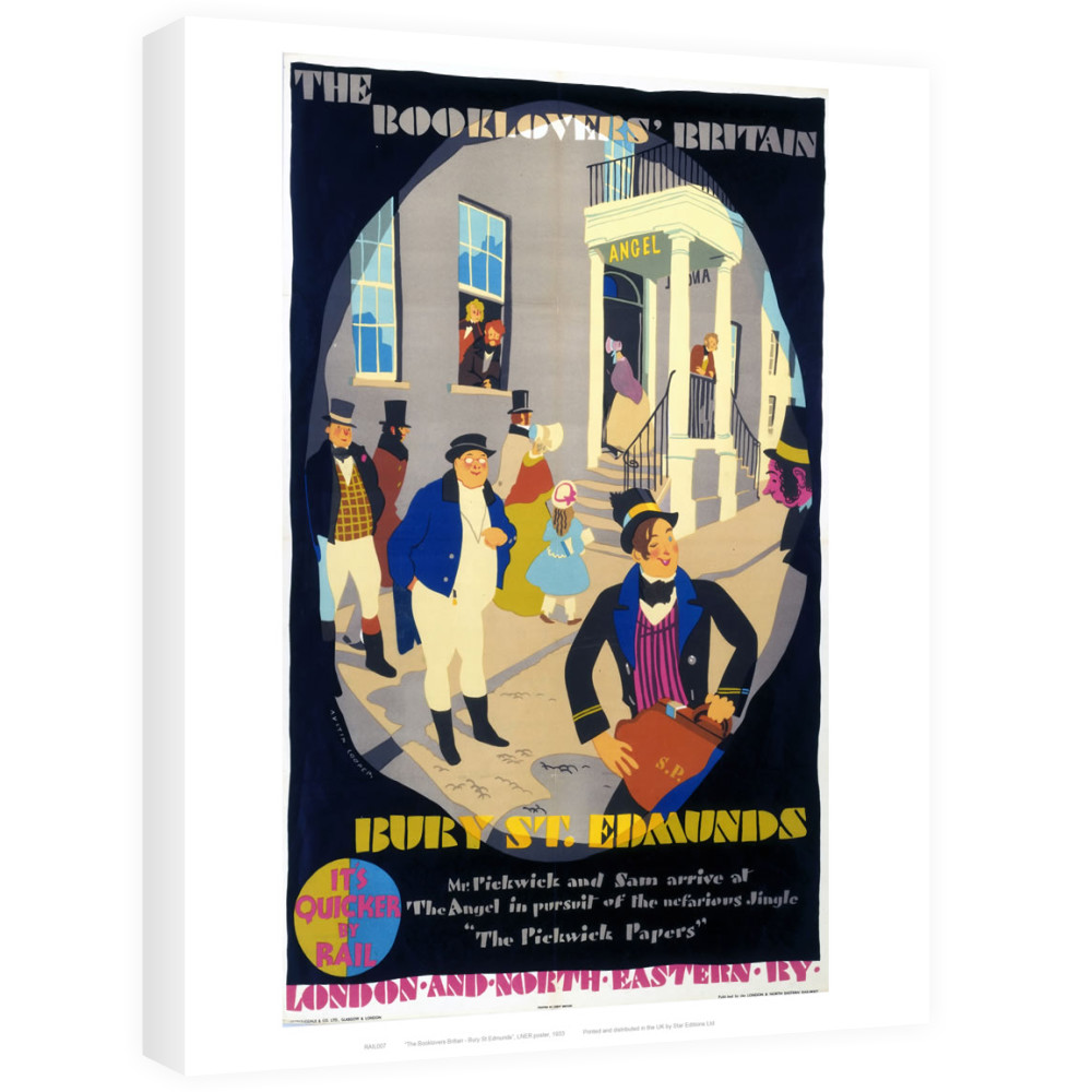 Railway Posters - Bury St Edmunds Canvas