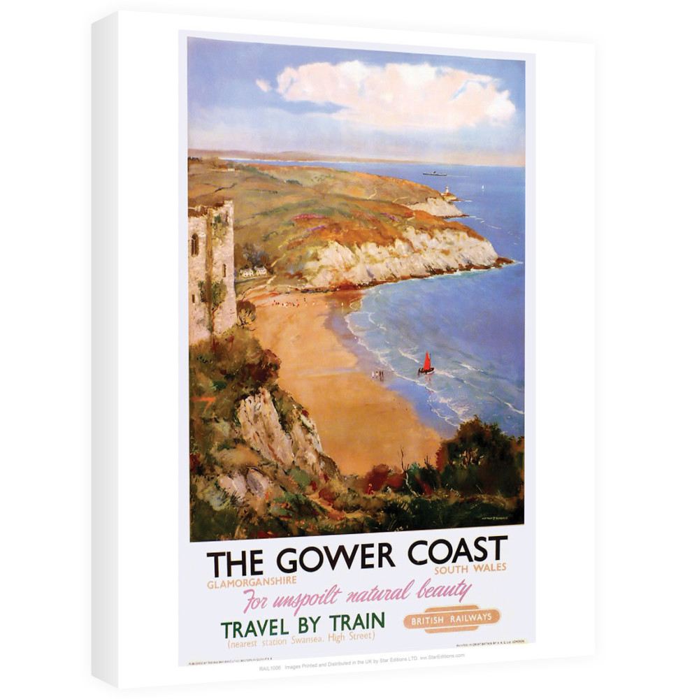 The Gower Coast, Glamorganshire Canvas