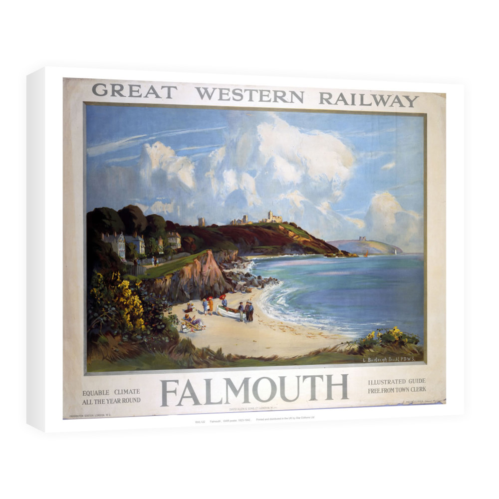 Railway Poster - Falmouth Canvas