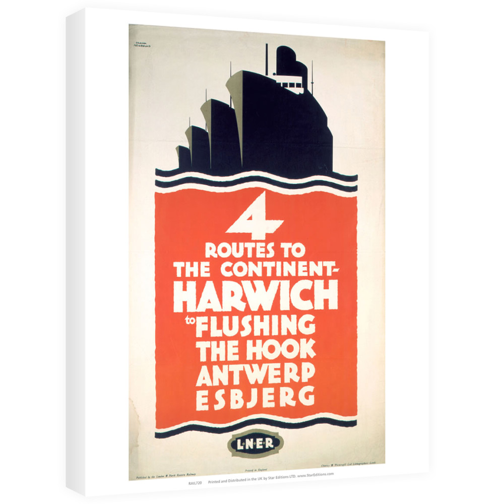4 Route to the Continent - Harwich LNER Canvas
