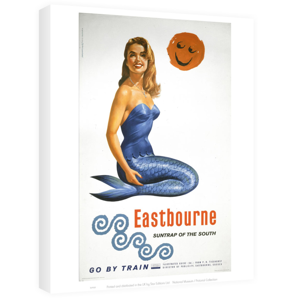 Railway Poster - Eastbourne Canvas