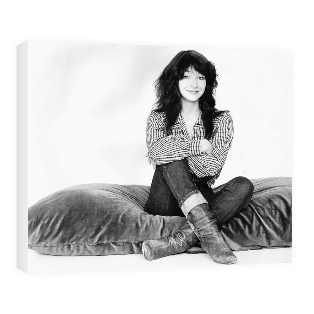 Kate Bush Singer Sitting On A Giant Cushion September 1983  Canvas