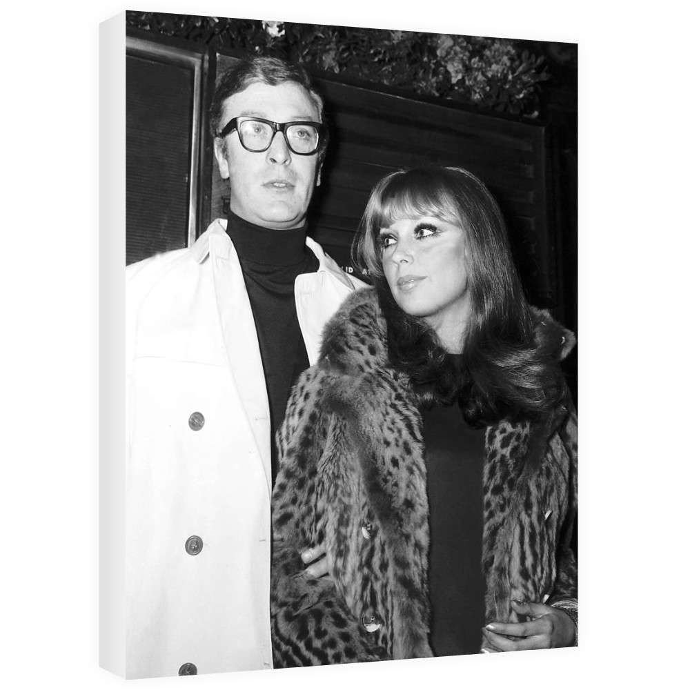 Michael Caine actor and girlfriend Elizabeth Ercy Canvas