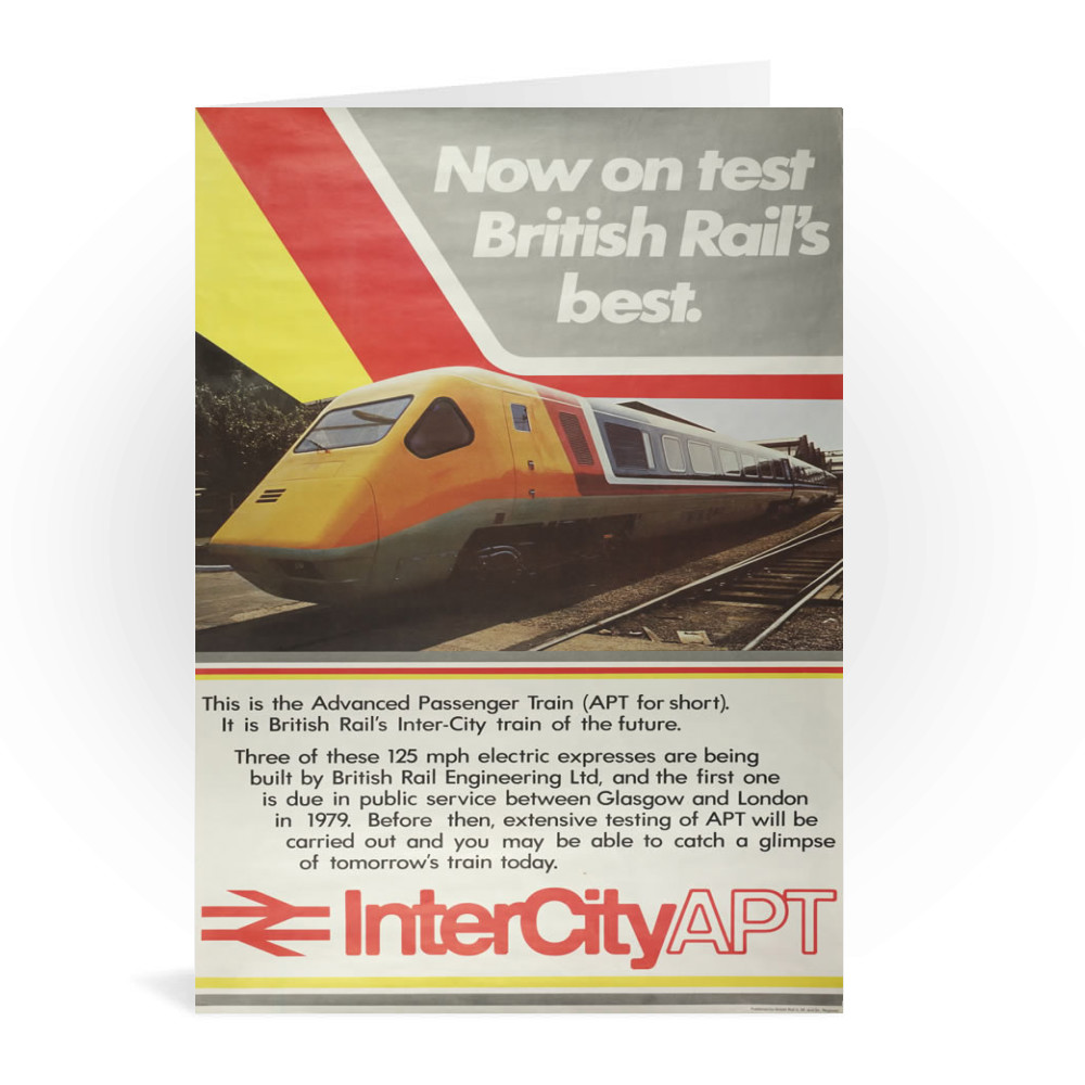 British Railway Poster. InterCityAPT Greeting Card