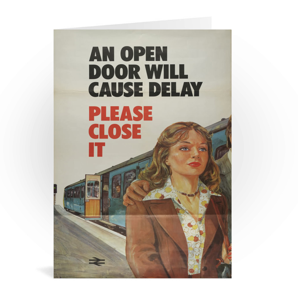 British Railway Poster Greeting Card