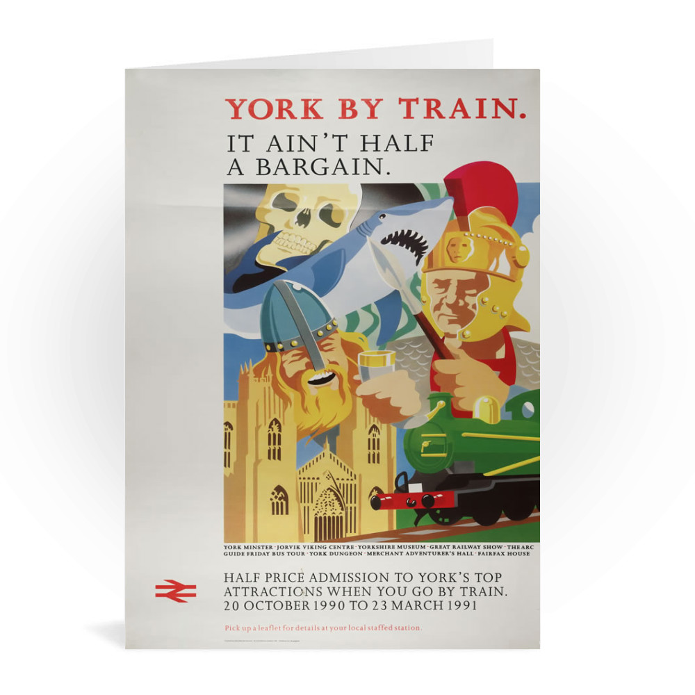 British Railway Poster. Central Advertising Services for Provincial Greeting Card