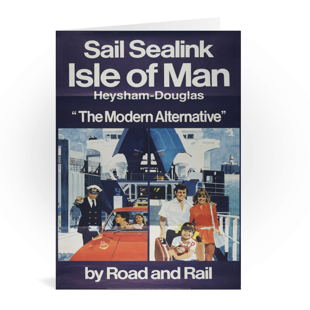 British Railway Poster. Central Publicity Unit for Sealink Ltd. Greeting Card