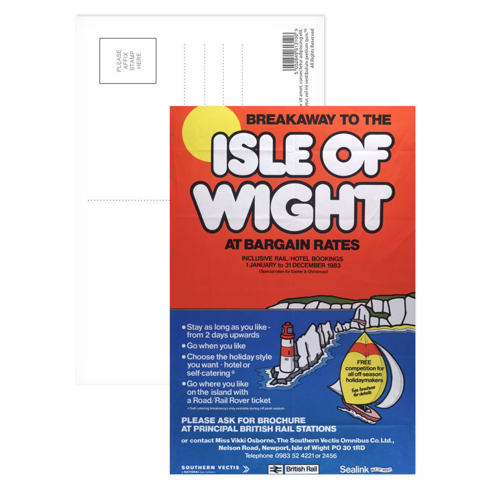 Breakaway to the Isle of Wight at Bargain Rates, 1 January-31 December 1983 Greeting Card