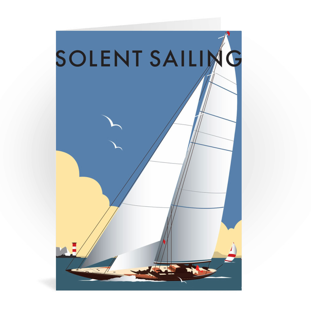 Thompson Travel Uk: Solent Sailing Greeting Card