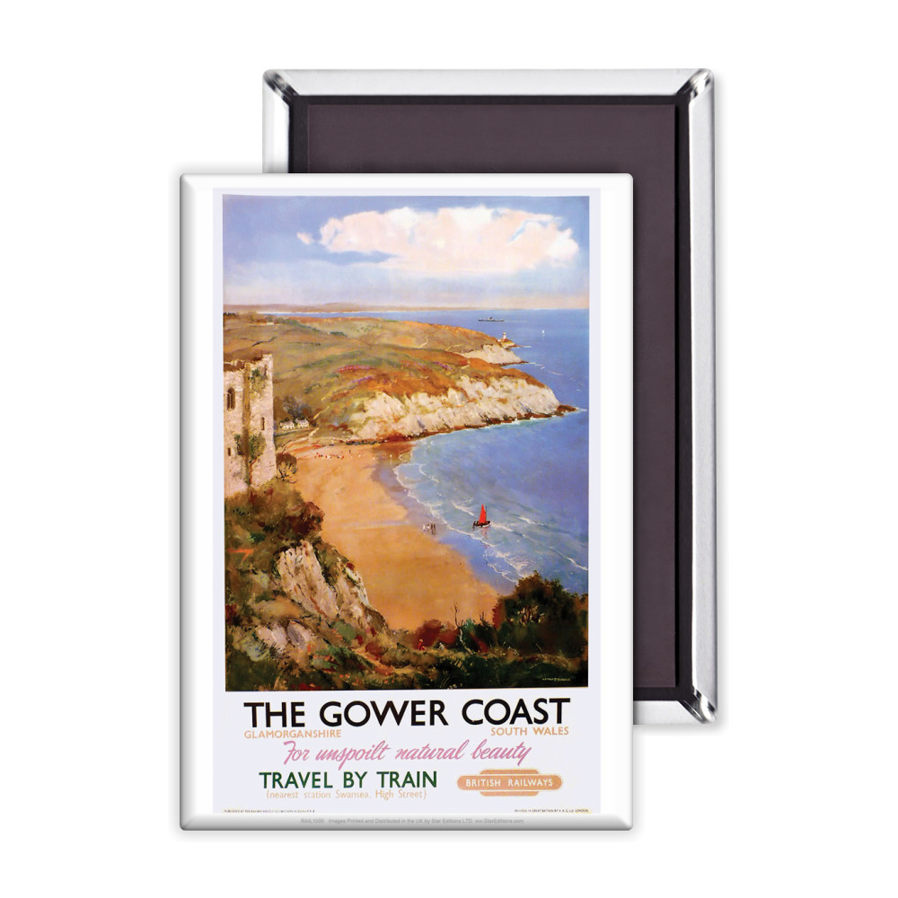 The Gower Coast, Glamorganshire Magnet