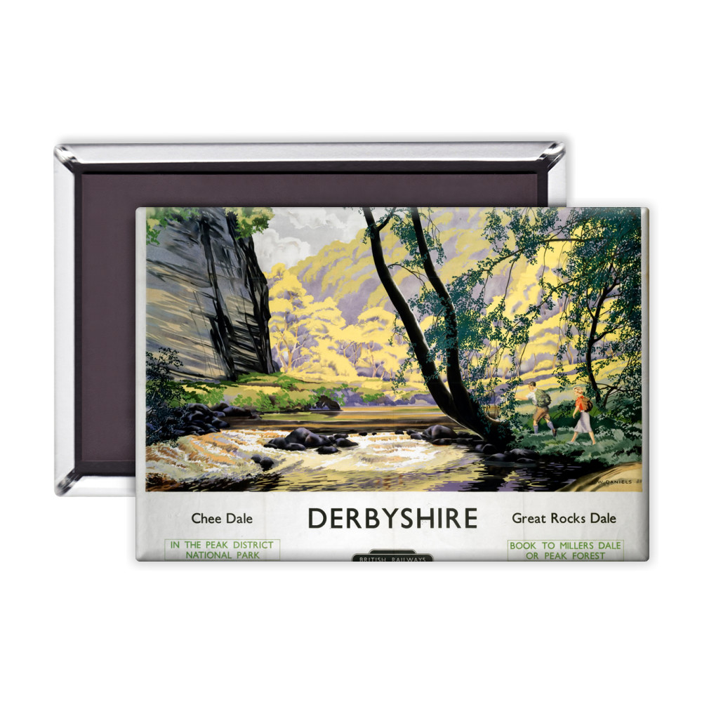 Derbyshire Chee Dale, Great Rocks Dale Magnet