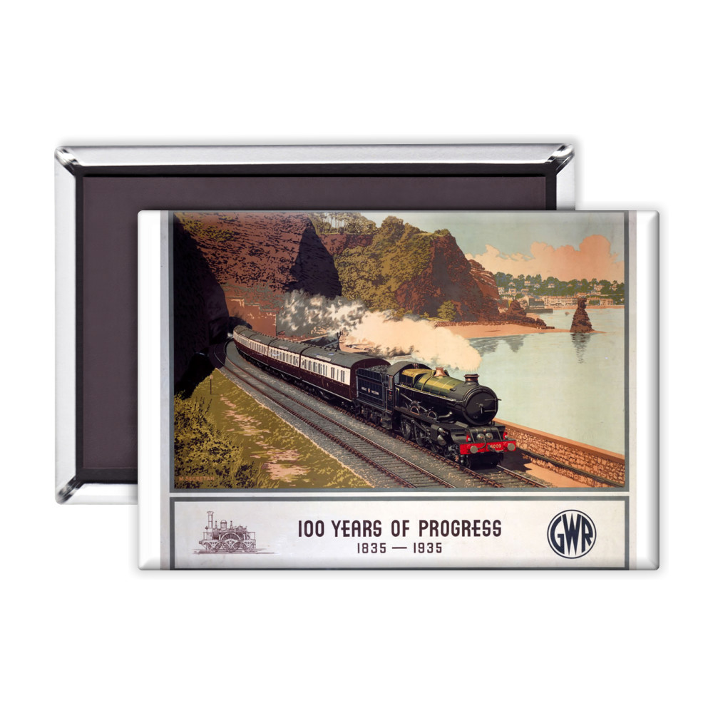 100 Years of progress - Steam train along the coast GWR Magnet