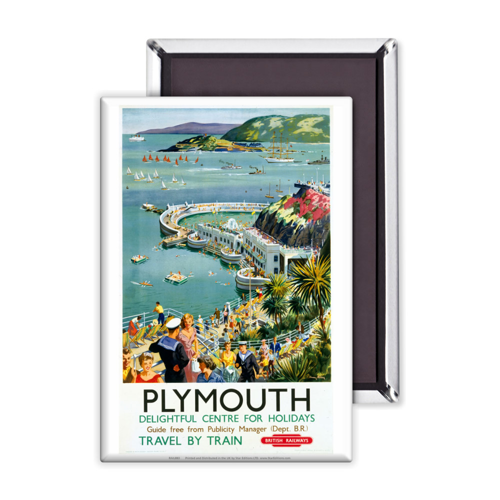 Plymouth - Seaside Delightful Center for holidays Magnet