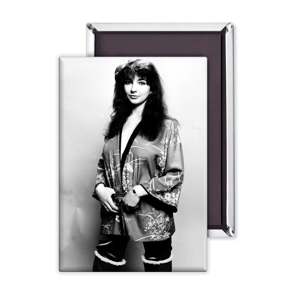 Pop singer Kate Bush poses in the studio wearing a kimono Magnet