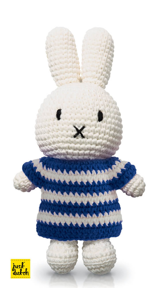 Miffy Handmade Crochet and her blue striped dress