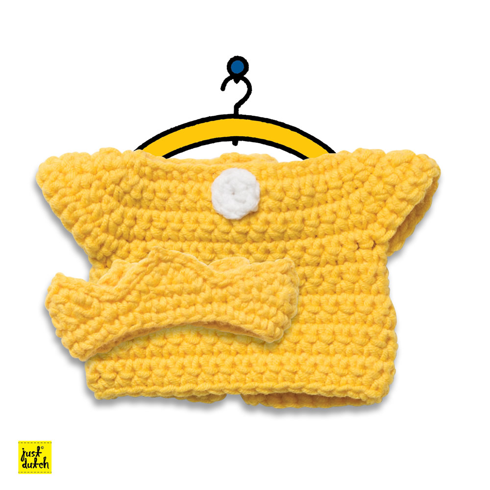 Miffy Handmade clothes set, yellow queen set