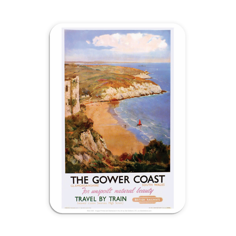 The Gower Coast, Glamorganshire Neoprene Mouse Mat