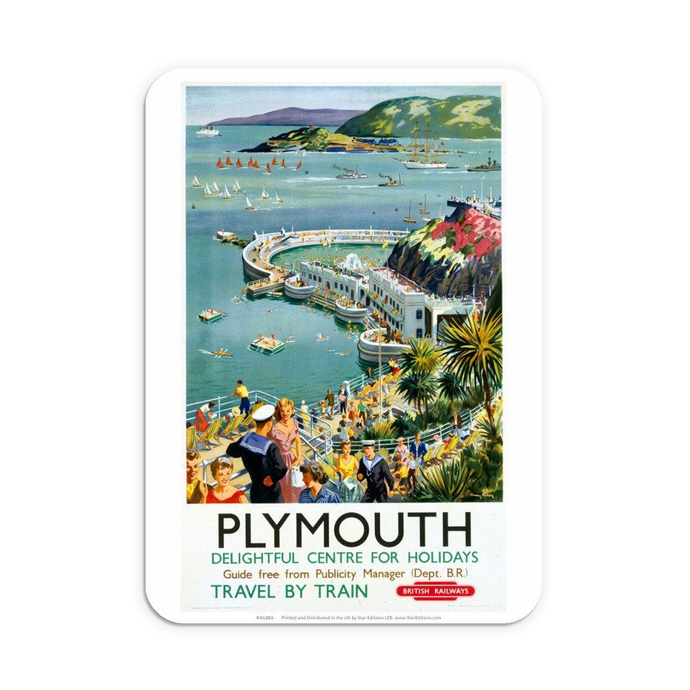 Plymouth - Seaside Delightful Center for holidays Neoprene Mouse Mat