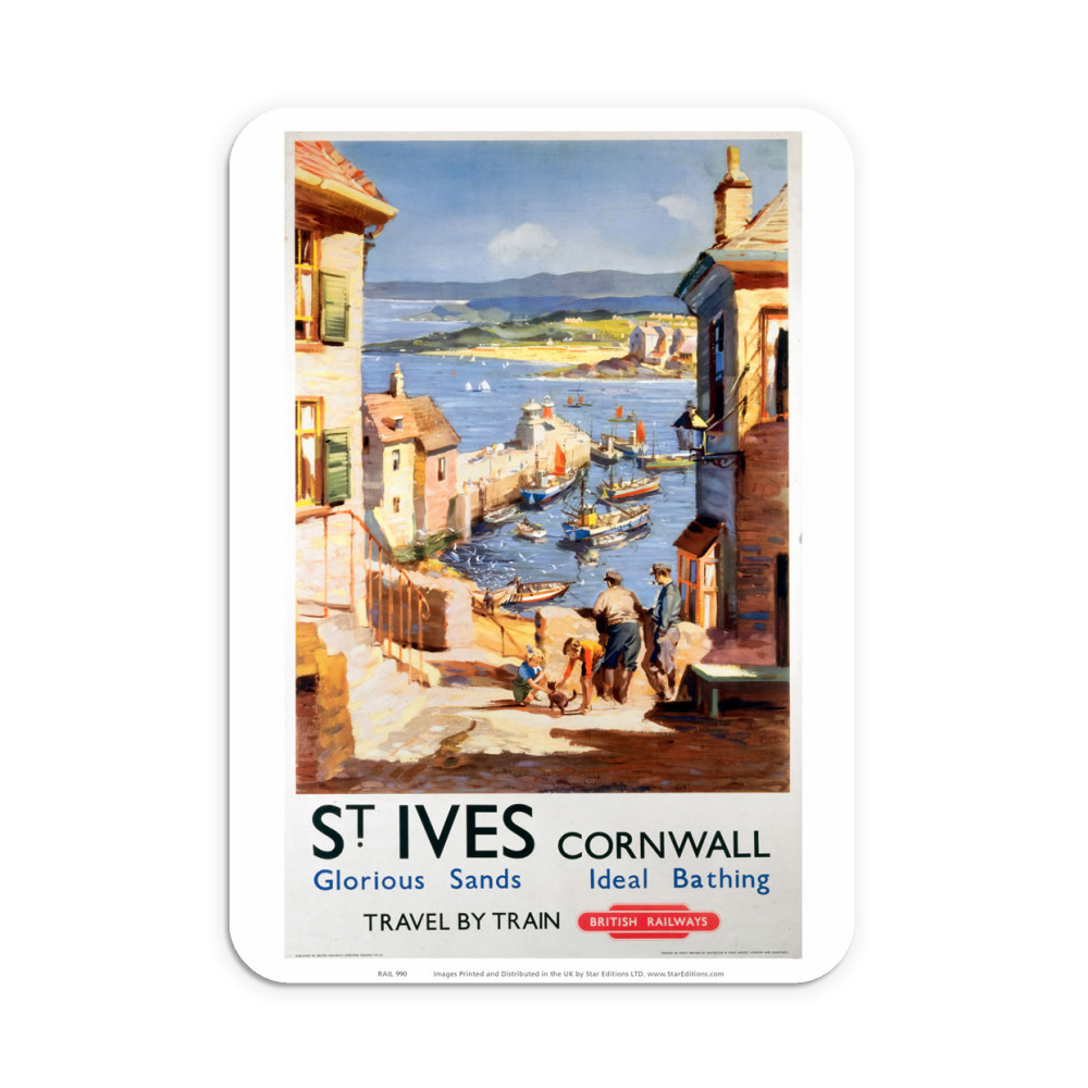St Ives Cornwall - Glorious sand and Ideal Bathing Neoprene Mouse Mat