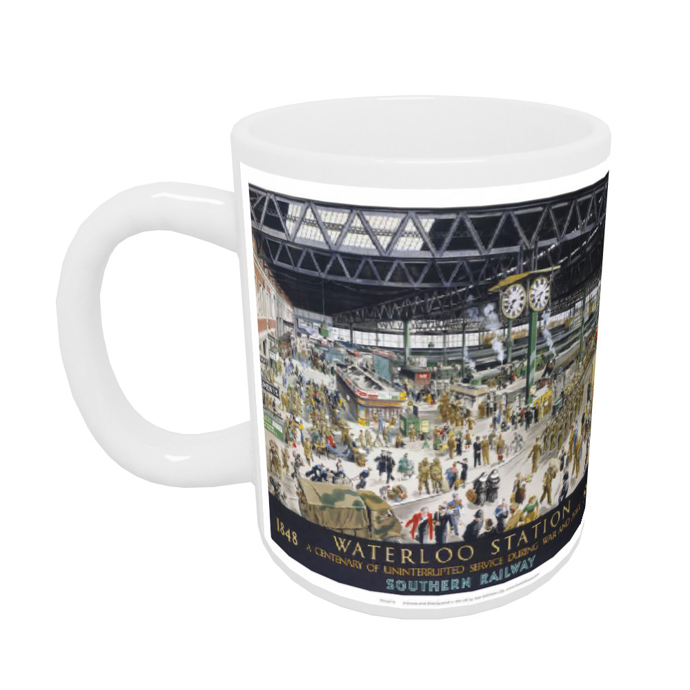 1848 to 1948 waterloo station - Centenary of uninterrupted service Mug
