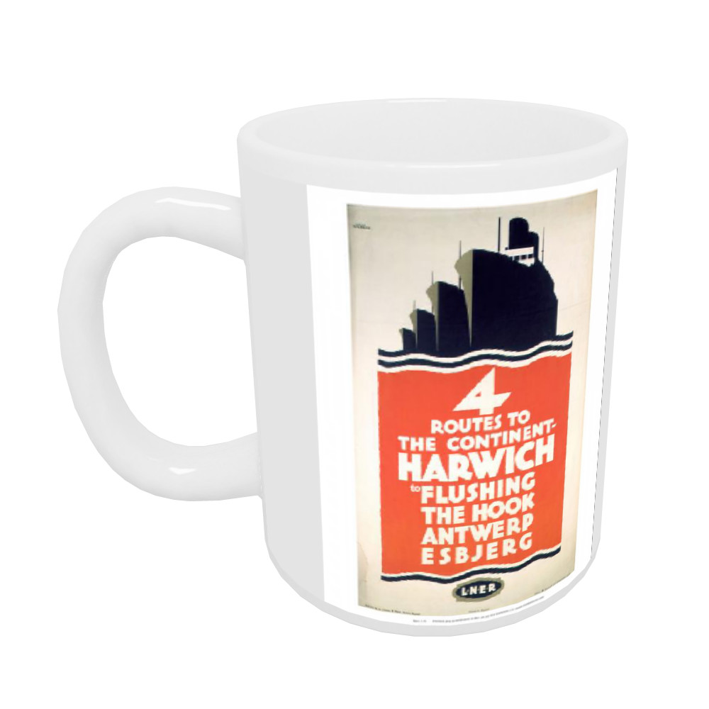 4 Route to the Continent - Harwich LNER Mug