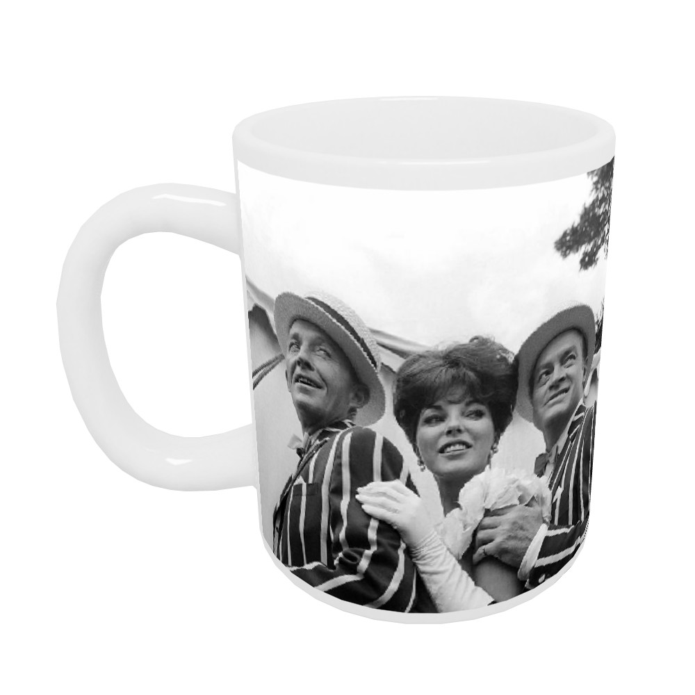 'Bing Crosby, Joan Collins and Bob Hope' Mug