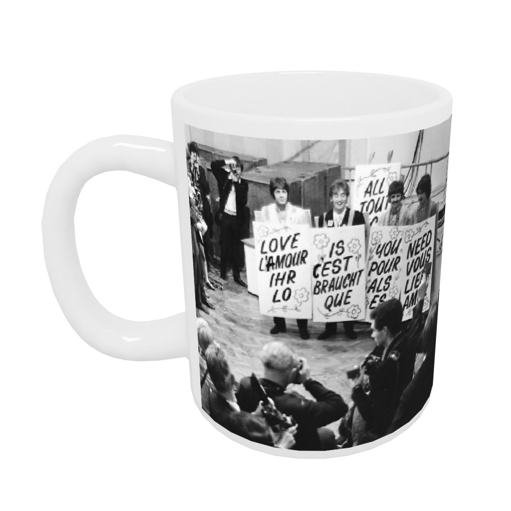 1967 The Beatles promote Our World.. 10oz Mug