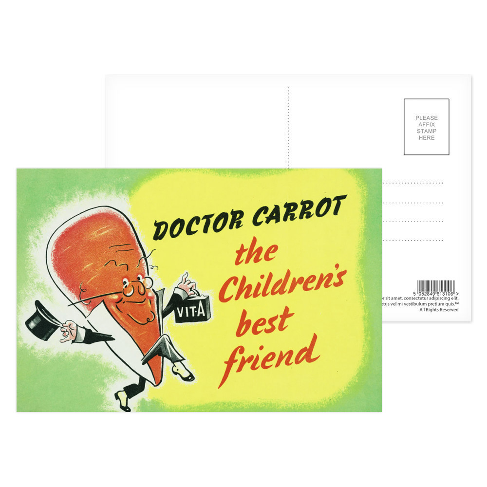 Doctor Carrot Postcard