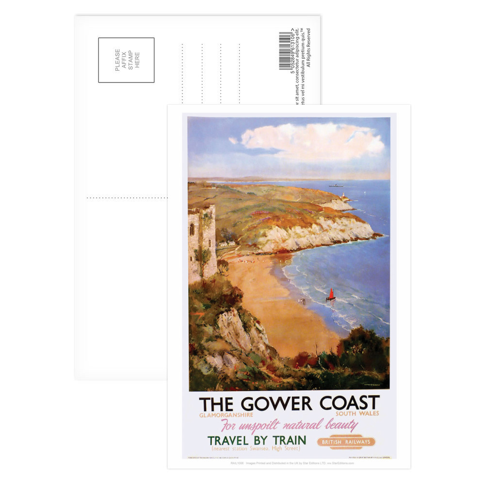 The Gower Coast, Glamorganshire Postcard