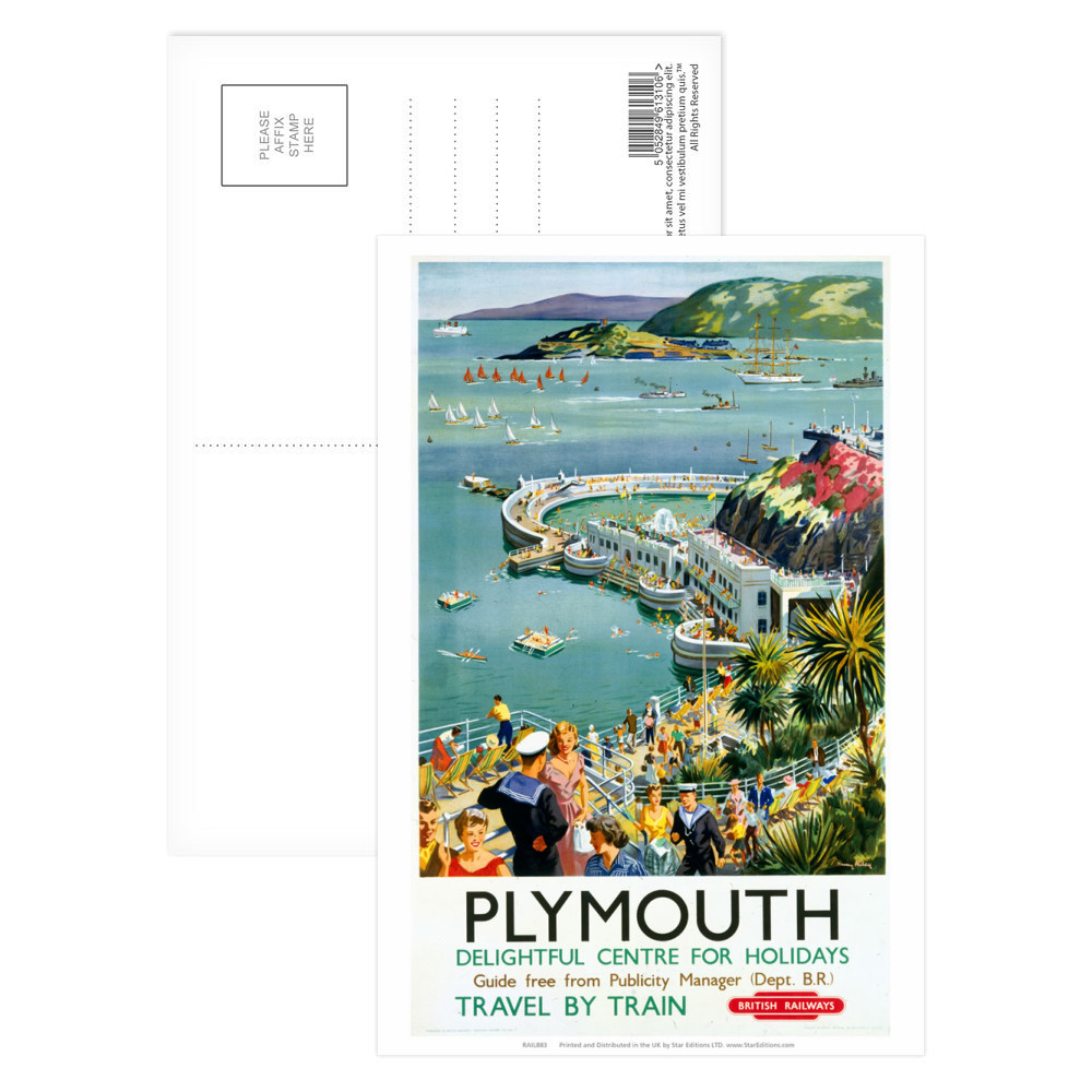 Plymouth - Seaside Delightful Center for holidays Postcard
