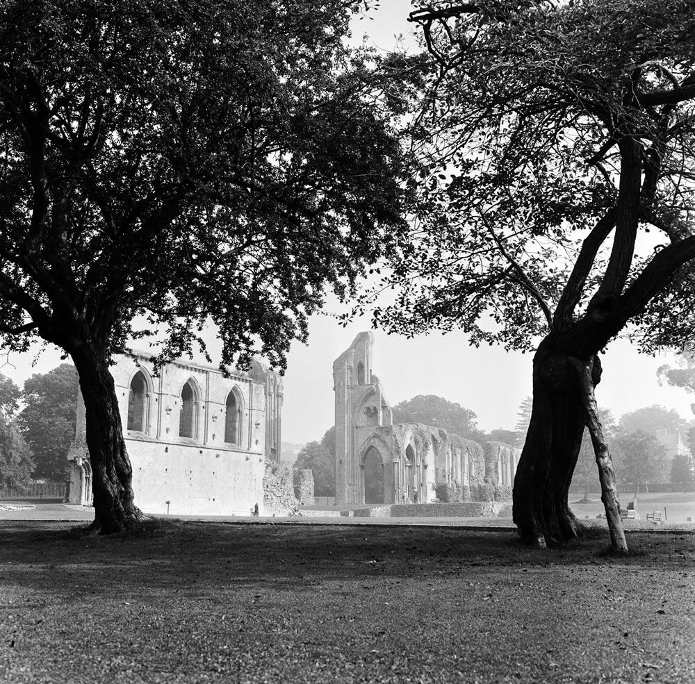 Glastonbury Abbey, 1966 Art Print