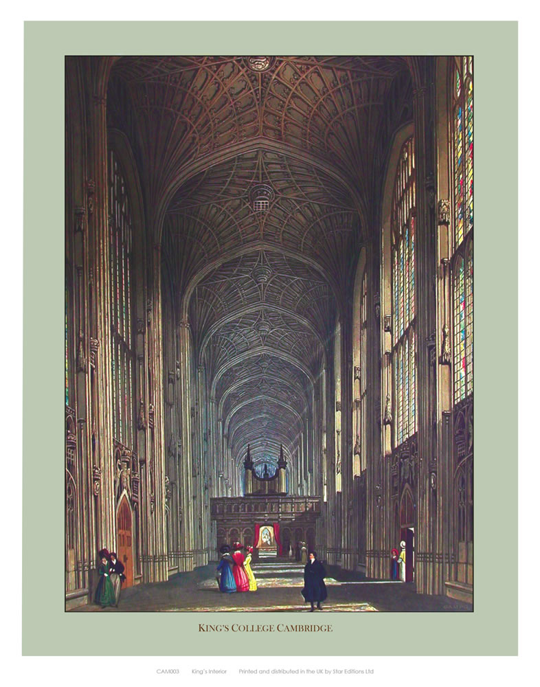 Inside King's College Art Print