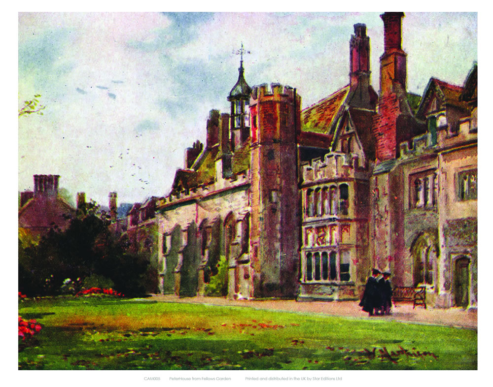 Peterhouse from Fellows Garden Art Print