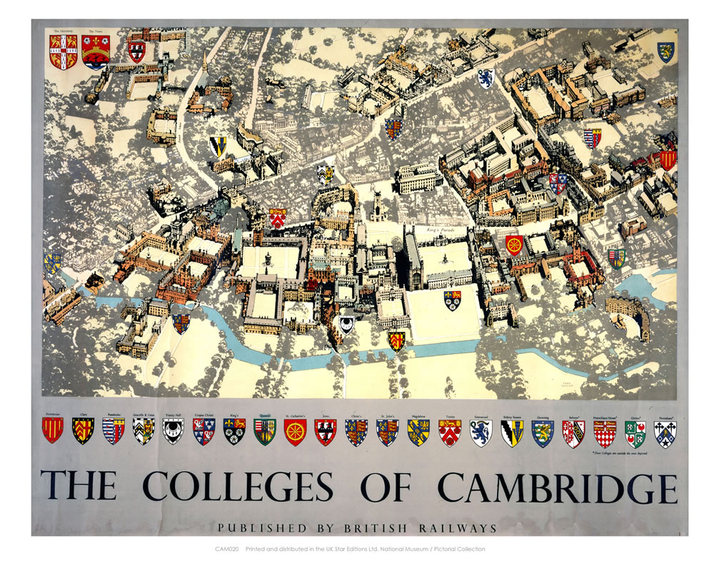 The Colleges of Cambridge Art Print