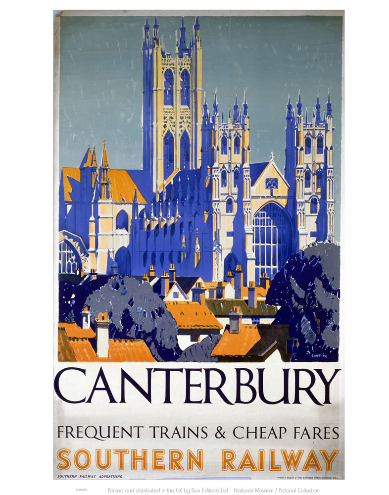 Canterbury Frequent Trains and Cheap Fares Art Print