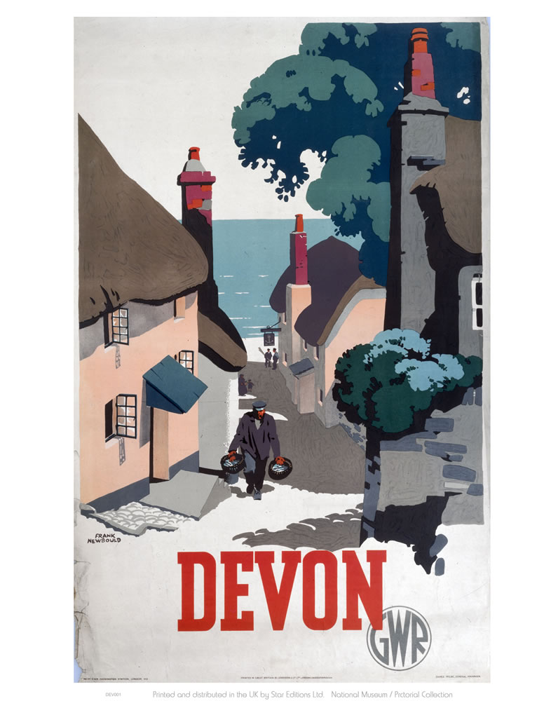 Devon GWR Old Man Walking Up Street Art Print