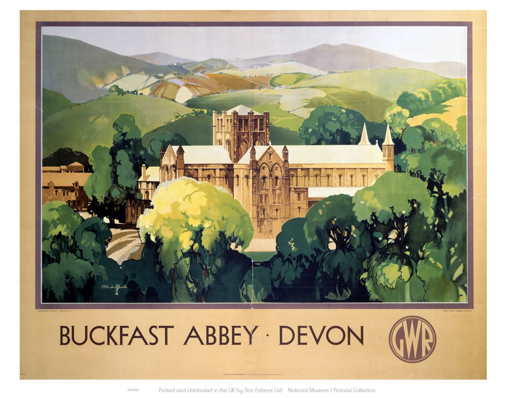 Buckfast Abbey Devon Art Print