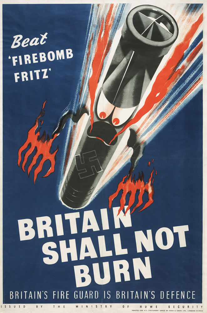 Britain Shall not burn 11x14 Print