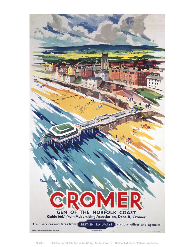 Cromer View From Air Art Print