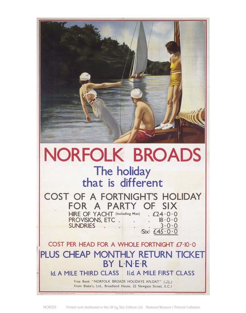Norfolk Broads the holiday that is different Art Print