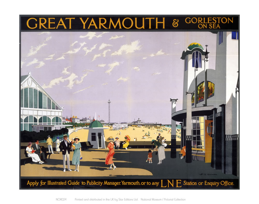 Great Yarmouth sea front Art Print