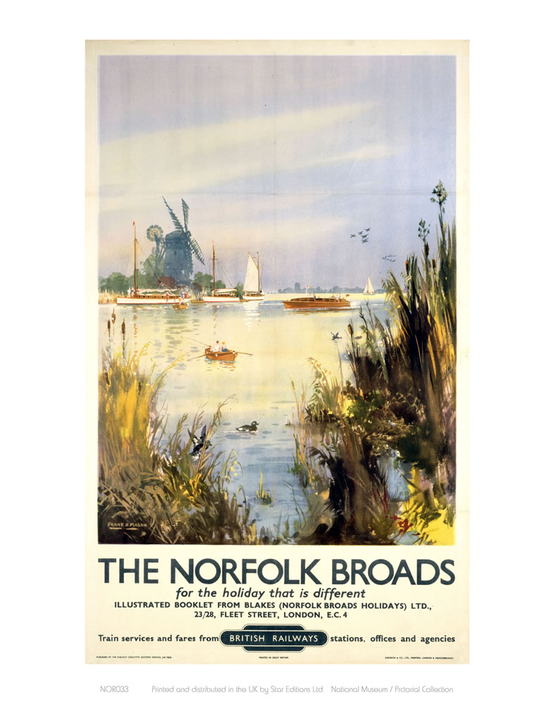 Broads Watercolour Art Print